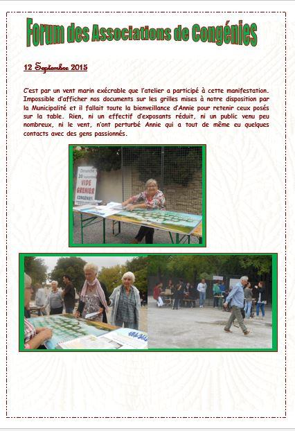 Forum des associations congegies 2015