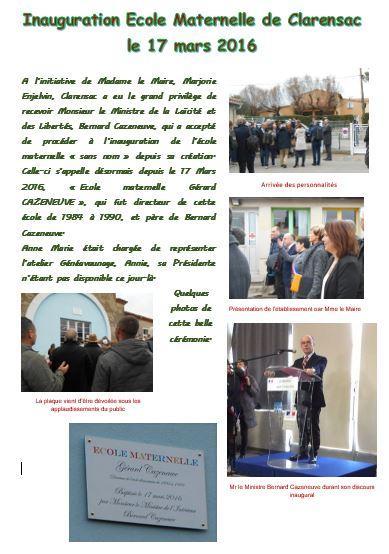 Inauguration ecole maternelle livre evenementiel