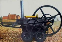 Locomotive a vapeur de trevithich en 1804