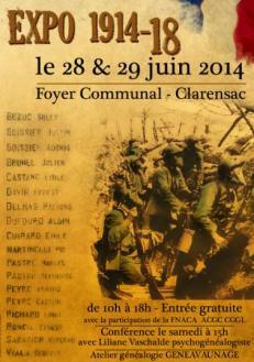 affiche de notre expo Juin 2014