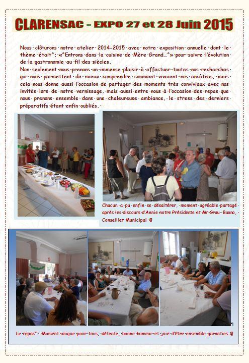 Vernissage et repas expo